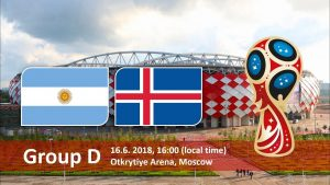 World Cup 2018, Argentina vs Iceland