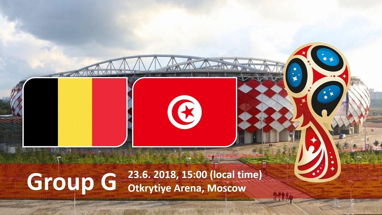 World Cup 2018, Belgium vs Tunusia