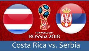 World Cup 2018, Costa Rica vs Serbia