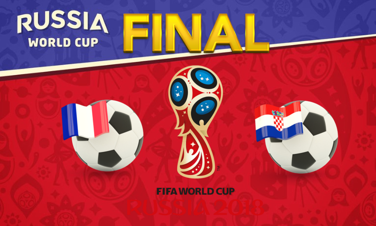 World Cup 2018, France vs Croatia