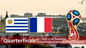 World Cup 2018, Uruguay vs France