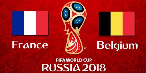 World Cup 2018, France vs Belgium